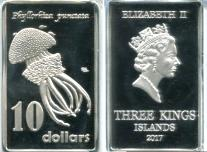 Three Kings Islands 10 Dollars 2017, Australian Spotted Jellyfish