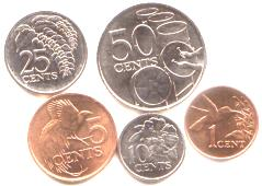 Trinidad and Tobago coin set