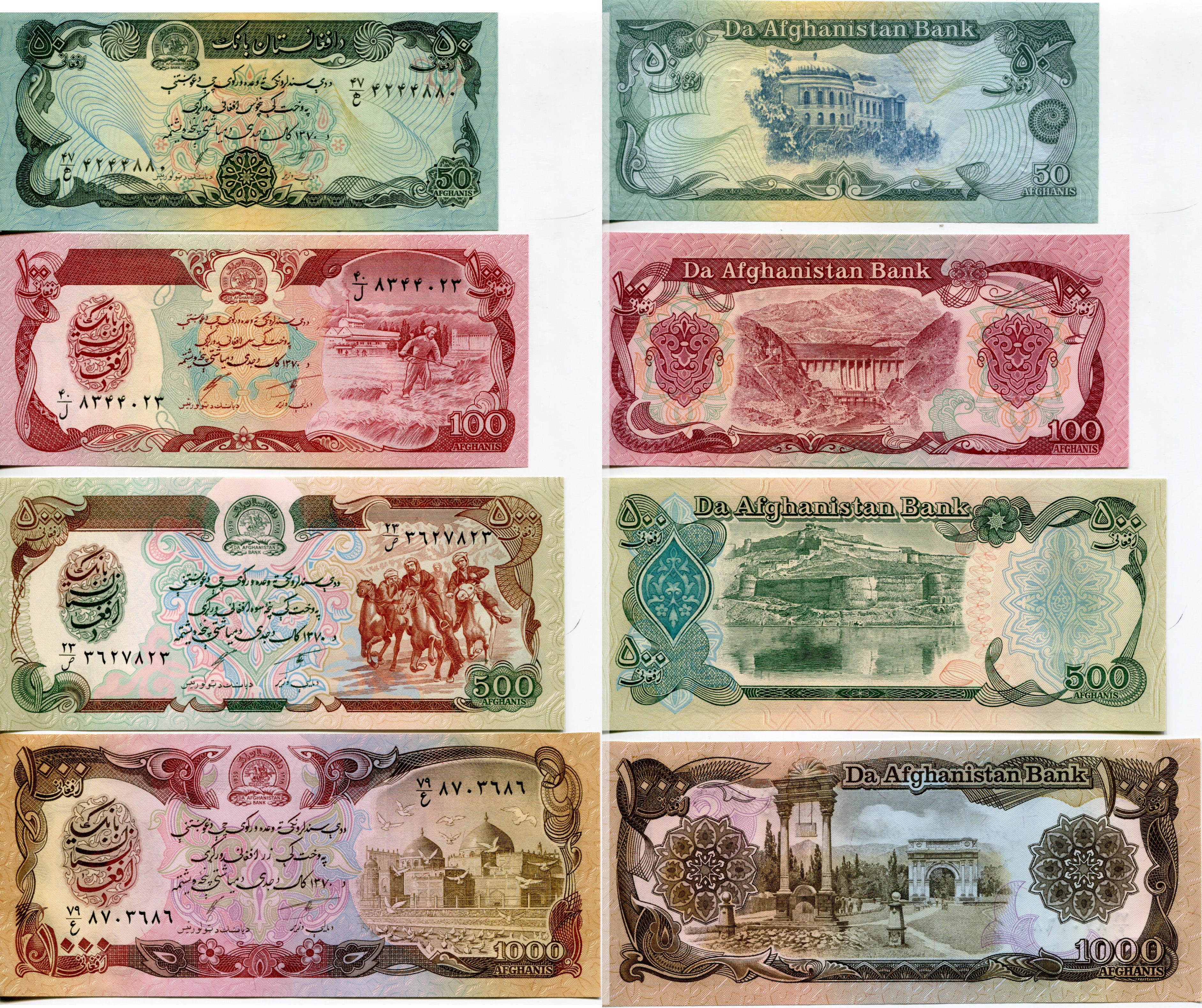 World Paper Money Countries A To H