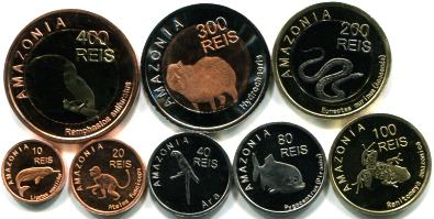 Amazonia 2012 coin set depicts wildlife