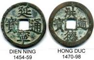 Annam 1 Cash of Dien Ning (1454-59) and Hong Duc (1470-98)