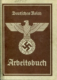 Nazi Germany Arbeitsbuch - Employment identification book