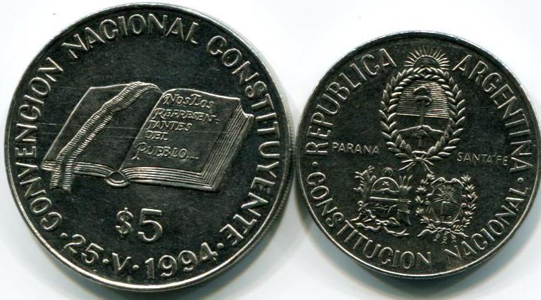 Argentina 2 5 Peso 1994 Consutional Reform