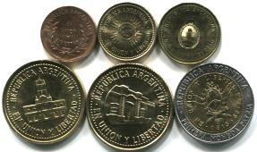 Argentina current coin set