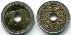 Artic Territories 10 Dollars 2011 trimetallic coin