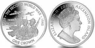 Ascension Island 1 Crown 2019, 80th Anniversary of start of World War II