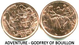 Austria copper 10 Euro 2019 Adventure Godfrey of Bouillon