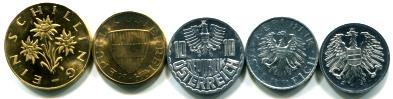 Austria 1965 five coin Proof set