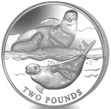 British Antarctic Territory 2 Pounds 2017 Crabeater Seal, copper-nickel