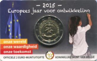 Belgium 2 Euros 2015 European Year of Development