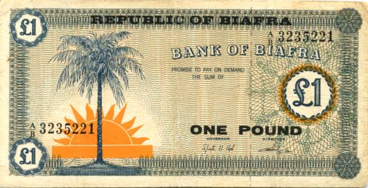Biafra 1 Pound Note 1967 P2