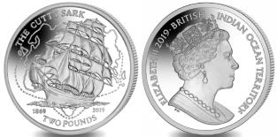 British Indian Ocean Territory 2 Pounds 2019 Cutty Sark