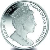 British Indian Ocean Territory common obverse features Queen Elizabeth