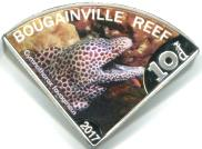 Bougainville Reef 10 Dollars 2017 Laced Moray Eel