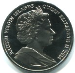 Common obverse for British Virgin Islands 2014 coin