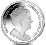 British Virgin Islands 2017 coins feature Queen Elizabeth on the obverse
