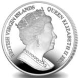 Common obverse on British Virgin Islands 2016 coins depicts Queen Elizabeth I