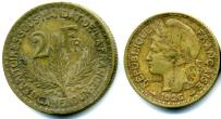 Cameroon 1 and 2 Francs, 1924 - 1926, KM2 & KM3
