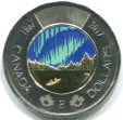 Canada Toonie 2017 glow in the dark coin