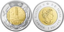 Canada 2 Dollars 2017 Canadian National Vimy Memorial commemorative coin
