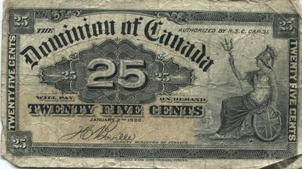 Canada 25 cent banknote, 1900