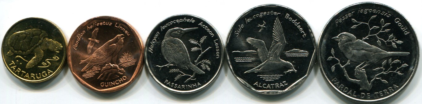 Cape Verde 1994 Coin Set Features Birds And Turtle