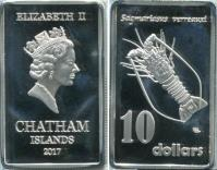 Chatham Islands 10 Dollars 2017 Australian Crawfish