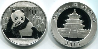 China 2015 1 troy ounce .999 fine silver Panda