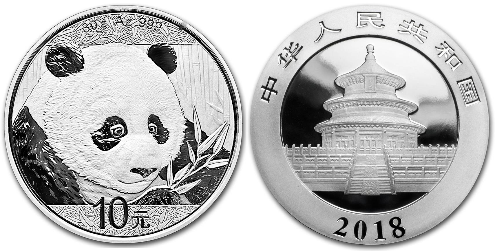2400 years of chinese coins china 2018 30 gram 999 fine silver panda biocorpaavc Choice Image