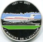Congo Republic silver 1000 Francs History of Aviation: BAC111