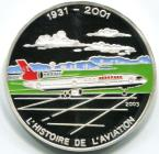 Congo Republic silver 1000 Francs History of Aviation: MD-11