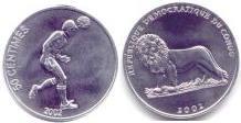 Congo Soccer coin 50 Centimes 2002 KM75