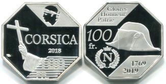 Pièce Corse 100 Francs 2018