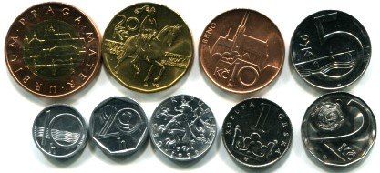 Czech coin set