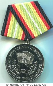 German Democratic Republic (DDR) National People's Army Silver Years of Faithful Service Medal