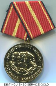German Democratic Republic (DDR) National People's Army Gold Distinguished Service Medal