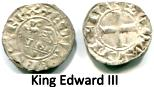 Anglo-Gallic silver Denier of Edward III, 1327-77