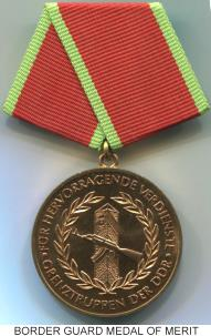 German Democratic Republic (DDR) Bronze Border Guard Medal of Merit