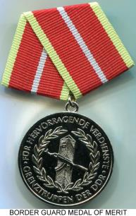 German Democratic Republic (DDR) Silver Border Guard Medal of Merit