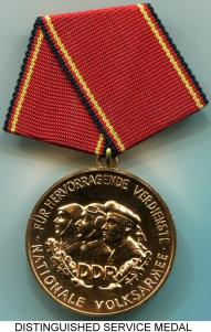 German Democratic Republic (DDR) National People's Army Bronze Distinguished Service Medal