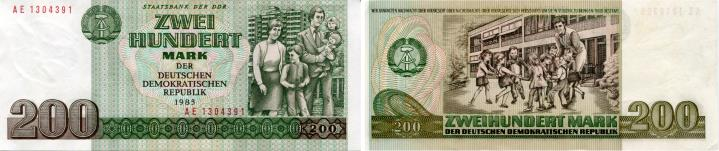 East Germany 200 Mark note, 1985 P32