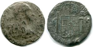 Piece-of-Eight of Carlos III (Charles III ) from the El Cazador shipwreck