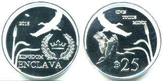 Kingdom of Enclava cutout coin 2018