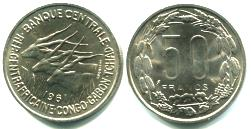 Equatorial African States 50 Francs 1961 KM3
