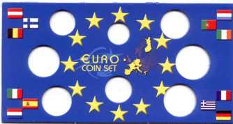 Holder for Euro coin set