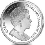 Falkland Islands 1 Crown 2017 features Queen Elizabeth