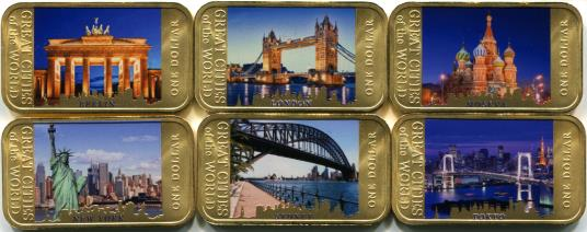 Fiji $1 2015 Great Cities of the World coin set