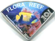 Flora Reef 10 Dollars 2017 Blue-girdled angelfish