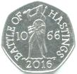 Great Britain 50 Pence 2016 Battle of Hasting