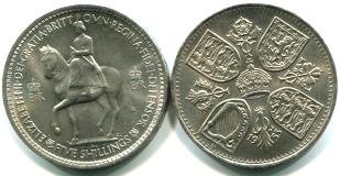 Great Britain Queen Elizabeth Coronation crown, 1953 KM894
